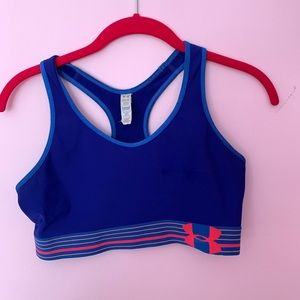(UNDER ARMOUR) bright blue and pink sports bra